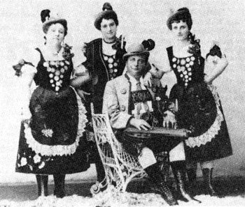 Franz Reilhofer's Alpine Yodellers, Chicago, c.1906. (Courtesy State History Society of Wisconsin).
