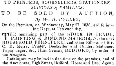 From  Northants Mercury, 23rd May 1835.