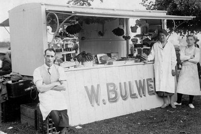 Bulwer's stall at a village fair, photo courtesy Chris Holderness