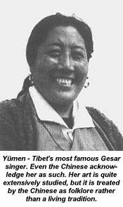 Yümen the Gesar singer