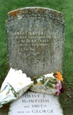 Herbert's headstone in Blakeney churchyard.
