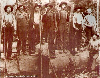 Photo of Pocahontas County logging crew c.1915