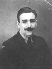 Ray in RAF uniform, complete with moustache like his father's, c.1942. Photo courtesy Dave Andrews.