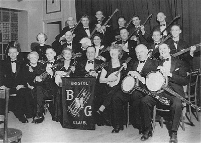 Bristol BMG club band 1954. Ray is in the back row, second from the right. Photo courtesy Alan Quirk
