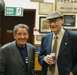 Stanley Robertson with Jock Duncan, Whitby 2004.