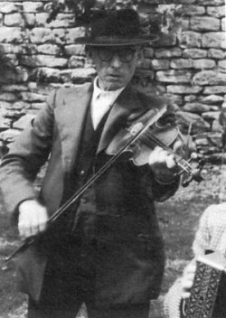 Scan, 1958.  He played fiddle in his younger days.