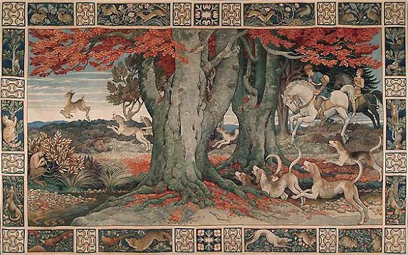 The Chase: Tapestry designed by Heywood Sumner