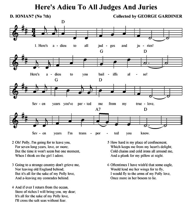 Shores of botany bay lyrics