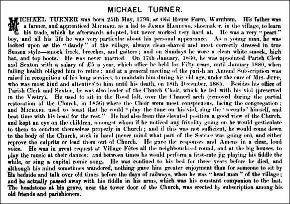'The fullest account of Michael Turner's life ...'
