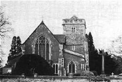 Warnham Church, mid 1970s