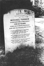 Postcard photo of Turner's gravestone