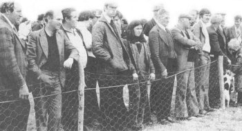 Spectators watching the judging at 1980 West Ulster Hound Show.