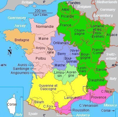 Map Of France In English.France