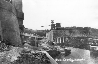 Photo of a 'Black Country Lime Works' - from Roy Palmer's postcard collection.