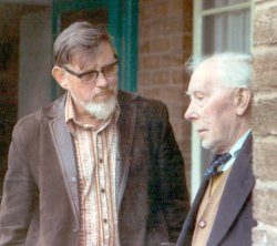 Photo of George with Ewan MacColl by Peggy Seeger.