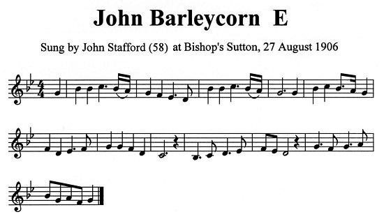 John Barleycorn John Stafford tune